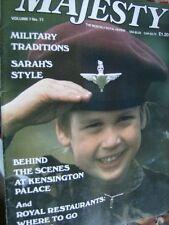 Majesty Magazine March 1987 V7 #11 Sarah's Style, Diana Portraits Windsor Jewels