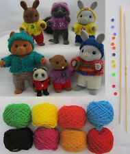 Playing-Knitting Kit All You Need for Sylvanian Families Original Motif