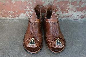TAMAZULA PUNTA VERDE DECORATE WITH EYELETS  Mexican Sandals Men's HUARACHES ACME