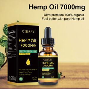 30ML Premium Hemp Oil (Natural Organic) Essential Oil Therapeutic Grade Oils