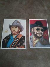 Hank Williams JR & Merle Haggard Print Cards Both Are Serial #5/9