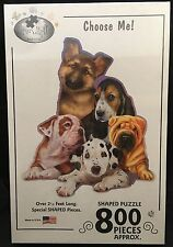 Choose Me! Puppy Dogs 800 Piece Shaped Jigsaw Puzzle New, Sealed Shar Pei Beagle