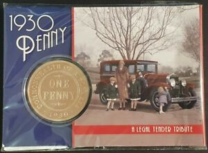 2015 - 1930 PENNY - ONE DOLLAR CARDED PROOF COIN - NIUE