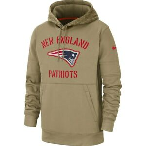 New Nike New England Patriots Salute To Service Sideline Therma Pullover Hoodie