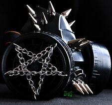 Black Mask Respirator Gas Mask Goth Spikes Fetish Cosplay Pentagram Handmade