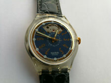 SWATCH AUTOMATIC NACHTTIGALL  - SAK104 - 1993 - NEW - leather strap - RARE