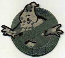 Camouflage Ghostbusters No Ghost Embroidered Iron on Patch