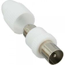 Set Koaxialstecker / Kupplung schraubbar für Antennenkabel