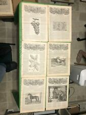 6 1880'S PACIFIC RURAL PRESS MAGAZINES OLD WEST AGRICULTURE MAGAZINE CALIFORNIA