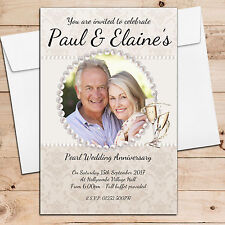 10 Personalised 30th Pearl Wedding Anniversary Invitations Invites N20