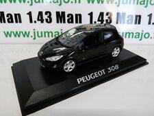 PE25A VOITURE 1/43 NOREV : PEUGEOT 308 175 THP 3 portes noire