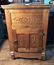 Antique 1800s Large Ice Box Refrigerator Leonard Cleanable