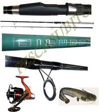kit canna siluro 2.70m 300g + mulinello enevay pesca break catfishing