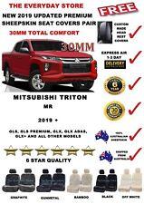 Mitsubishi Triton MR 19+ Premium Sheepskin Seat Covers Pair Airbag Safe 30MM
