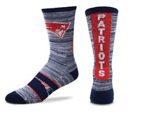 For Bare Feet New England Patriots RMC Ticket Crew Socks