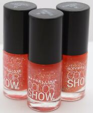 3 PK Maybelline Color Show Nail Polish 91 Punk Rock Pink .23 oz