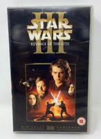 ORIGINAL STAR WARS REVENGE OF THE SITH VHS 2005 UK VIDEO / NO DVD & NO BLU-RAY