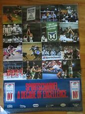 1981-91 Decade Sports Channel Poster LARRY BIRD 1986 CELTICS Champions WHALERS