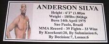 """MMA ANDERSON SILVA Champion Silver Photo Plaque """"FREE POSTAGE"""""""