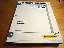 New Holland E30 Compact Crawler Excavator Parts Catalog List Book Manual NH