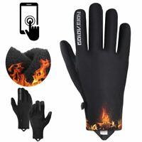 Mens Winter Warm Windproof Waterproof Fleece Lined Thermal Outdoor Sport Gloves
