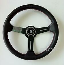 Nardi Steering Wheel Deep Dish Corn Racing 350mm Black Leather Type A Horn