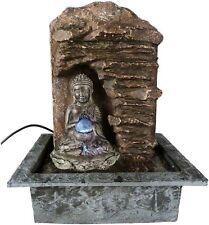 Buddha Brunnen Zimmerbrunnen mit Beleuchtung Luftbefeuchter Indien Tibet FON22
