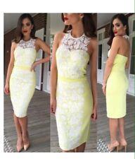 Lime Stretchy Alterneck Dress Size 12 Party