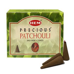 Hem Precious Patchouli Incense Cones Box For Purification Meditation Positivity