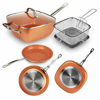 Best Choice Products Healthy Non-Stick Copper Bottom Frying Pan Kitchen Cookware