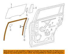 Toyota Oem 14-15 Highlander Window Glass-Rear Door-Run Channel Right 681420E050