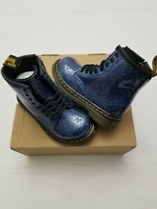 Dr Martens 1460 Glidder T Toddler Size 6 Blue    Coated 24290400 (ship fast)