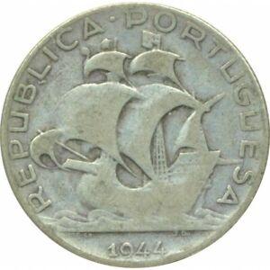 PORTUGAL 2.5 ESCUDOS 1944 TB
