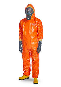 Dupont Tychem 6000F Chemical Suit 2XL Coverall Pesticide Spray Cat 3 Typ 3/4/5/6
