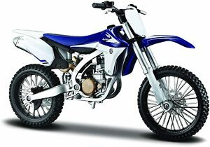 Maisto Assembly Line Yamaha YZ450F Dirt Bike Diecast Model Kit 1:12 Scale