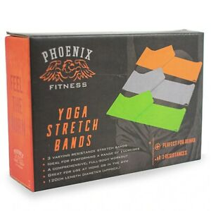 Phoenix Fitness Yoga Pilates Stretch Resistance Bands Home Gym Workout Exercise