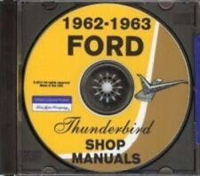 FORD 1962 and 1963 Thunderbird Shop Manual CD