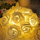 Rose Flower 20LED Fairy Wedding Garden Party Christmas Decor Xmas String Lights