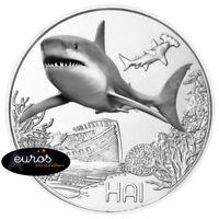Pièce 3 euros commémorative AUTRICHE 2018 - Le Requin - Pièce phosphorescente