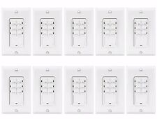 Enerlites HET06A In-Wall Countdown Timer Switch 1-5-10-15-20-30 Minute LED 10 PK