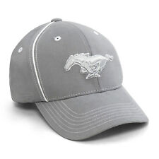 Ford Mustang Gray with White Pipe Trim Baseball Cap