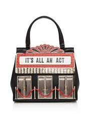 """NWT KATE SPADE DRESS THE PART """"ITS ALL AN ACT"""" 3D THEATER MARQUEE SATCHEL BAG"""