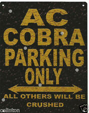 AC COBRA PARKING METAL SIGN RUSTIC VINTAGE STYLE 8x10in 20x25cm garage
