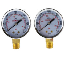 Low And High Pressure Gauges For Propane Regulator 2 Inches 14 Npt Pair