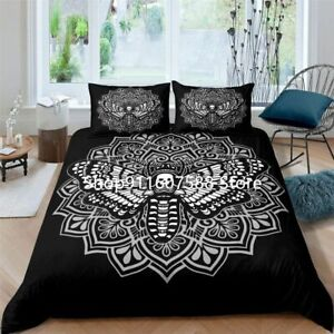 Gothic Skull Butterfly Bedding Set High Quality Duvet Cover Luxury Home Textiles