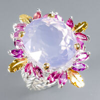 Lavender Amethyst Ring Silver 925 Sterling Top Color AA 21ct+ Size 8 /R128103