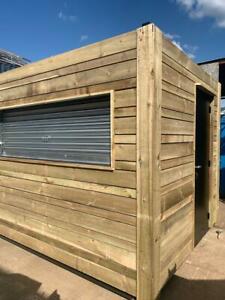 10ft x 8ft Clad Container / Burger Bar / Kiosk / Shop
