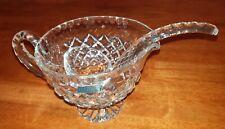 Violetta Crystal Punch Jug Spoon Handcut Poland Rare