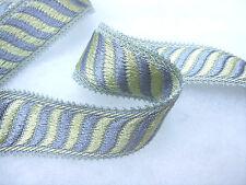 Grey border braid 35mm curtain trimming PER METRE fabric edging upholstery trim