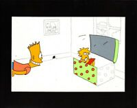 Simpsons Original Production Animation Cel Setup Tracey Ullman Show Fox 1988